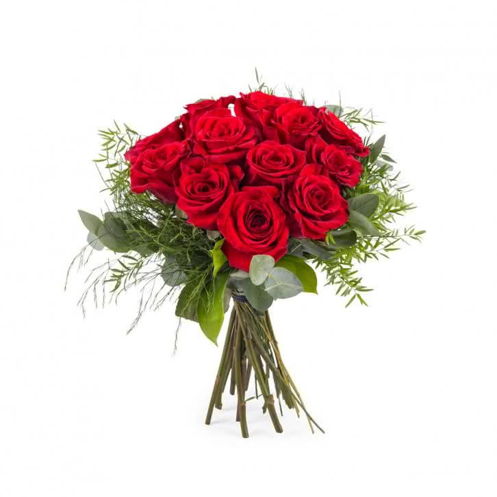 Desejo, Buquê de Rosas Vermelhas de Pé Curto