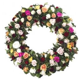 Condolences -  Mourning wreath of roses, Condolences -  Mourning wreath of roses