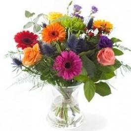 Mixed colours bouquet, excl. vase , Mixed colours bouquet, excl. vase