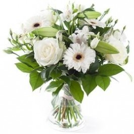 White mixed bouquet, excl. vase , White mixed bouquet, excl. vase
