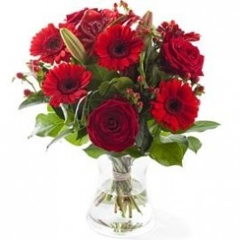 Red mixed bouquet, excl. vase , Red mixed bouquet, excl. vase