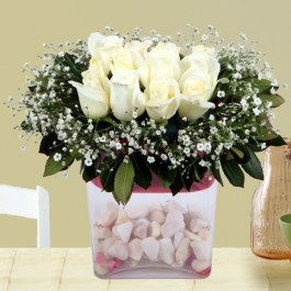 Arrangement of White Roses, Arrangement of White Roses