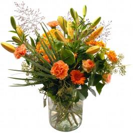 Natural bouquet incl. vase, Natural bouquet incl. vase