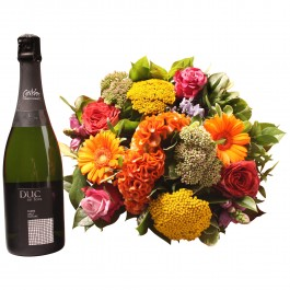 Colorful bouquet with Cava, Colorful bouquet with Cava
