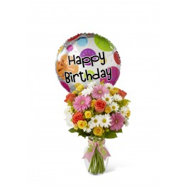 Birthday Cheer Bouquet - Vase included, Birthday Cheer Bouquet - Vase included