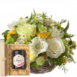 Journées ensoleillées avec du miel de fleurs suisse, Journées ensoleillées avec du miel de fleurs suisse