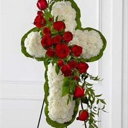 Floral Cross Easel, Floral Cross Easel