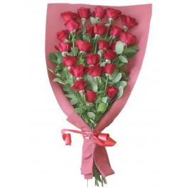 Bouquet of 24 red roses, Bouquet of 24 red roses