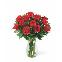 12 rosas de tallo medio, 12 rosas de tallo medio