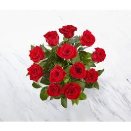 12 rosas de tallo corto, 12 rosas de tallo corto