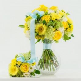 Yellow Mom & Baby Bouquet, Yellow Mom & Baby Bouquet