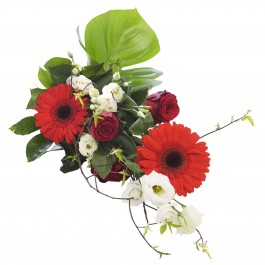 Red-white congratulation bouquet, Red-white congratulation bouquet