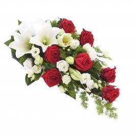 Red -white funeral decoration, Red -white funeral decoration