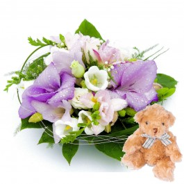Cute Baby arrangement + Tebby Bear, Cute Baby arrangement + Tebby Bear