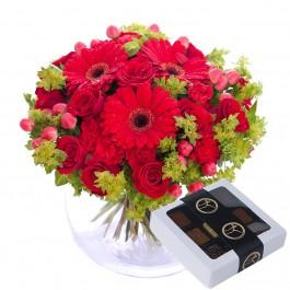 Hug for happiness, red + Chocolate box 100g, Hug for happiness, red + Chocolate box 100g