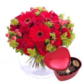 Hug for happiness, red + Chocolate heart, Hug for happiness, red + Chocolate heart
