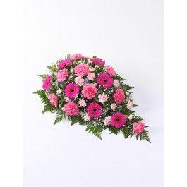 Carnation and Germini Teardrop Spray  Pink, Carnation and Germini Teardrop Spray  Pink