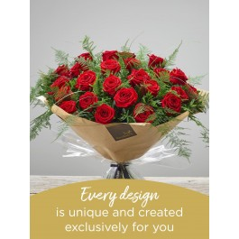 24 RED ROSE HAND-TIED, 24 RED ROSE HAND-TIED