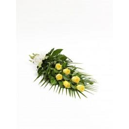 Simple Rose Sheaf - Yellow, Simple Rose Sheaf - Yellow