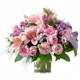 Pink funeral bouquet (without vase), Pink funeral bouquet (without vase)