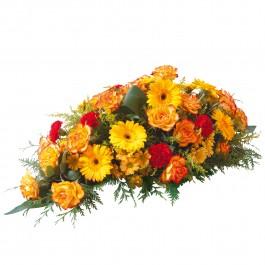 Orange funeral spray, Orange funeral spray