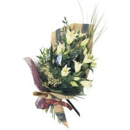 Corte el ramo de las flores con lirio casablanca, Corte el ramo de las flores con lirio casablanca