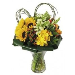 Bouquet in glass vase, Bouquet in glass vase
