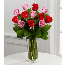 The True Romance™ Rose Bouquet by FTD® - VASE INCLUDED, The True Romance™ Rose Bouquet by FTD® - VASE INCLUDED