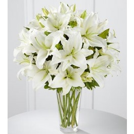 The Spirited Grace™ Lily Bouquet by FTD® - VASE INCLUDED, The Spirited Grace™ Lily Bouquet by FTD® - VASE INCLUDED