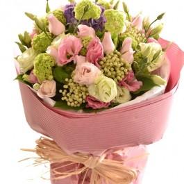 Bouquet of Cut Flowers pastel pinks, Bouquet of Cut Flowers pastel pinks