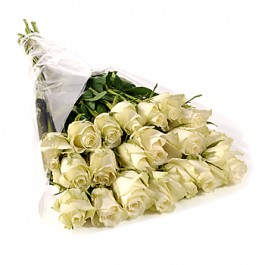 Bunch of 20 stems white roses, Bunch of 20 stems white roses
