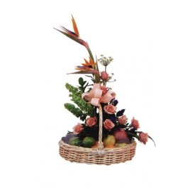 Flores e frutas cesta, Flores e frutas cesta
