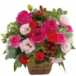 Arrangement in pink and red, Arrangement in pink and red