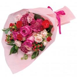 Bouquet in pink and red, Bouquet in pink and red