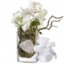 Une orchidée tout à fait design un porte-clés avec 112 SWARO, Une orchidée tout à fait design un porte-clés avec 112 SWARO