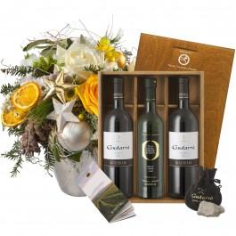 Bouquet pour les fêtes avec coffret cadeau Gudarrà «Southern, Bouquet pour les fêtes avec coffret cadeau Gudarrà «Southern