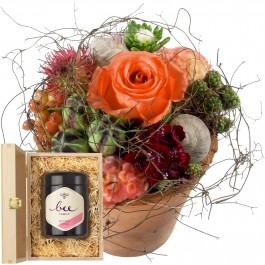Petit bisou fleuri avec du miel de fleurs suisse, Petit bisou fleuri avec du miel de fleurs suisse