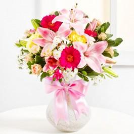 Surprise Bouquet in Pink colours, Surprise Bouquet in Pink colours