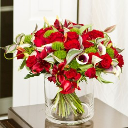 Luxurious bouquet with red roses, Luxurious bouquet with red roses