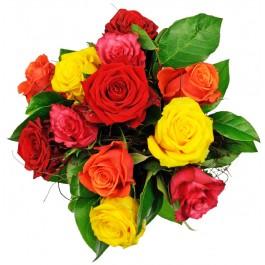 Affection - 12 rosas coloridas, Affection - 12 rosas coloridas