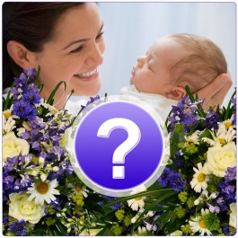Bouquet-Surpresa Nacimento Menino / Cor à escolha, Bouquet-Surpresa Nacimento Menino / Cor à escolha