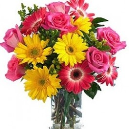 Arrangement of cut flowers with or without vase, Arrangement of cut flowers with or without vase