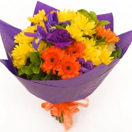 Funeral/Sympathy Bright Bouquet with ribbon, Funeral/Sympathy Bright Bouquet with ribbon
