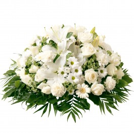 White funeral cuchsion, White funeral cuchsion
