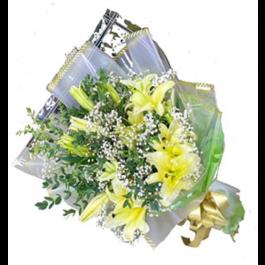 Yellow Lilies Bouquet, Yellow Lilies Bouquet