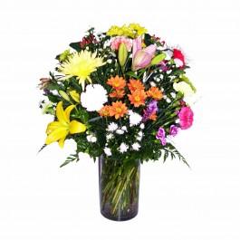 Arreglo de flores cortadas  (glass vase included), Arreglo de flores cortadas  (glass vase included)