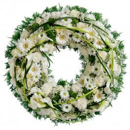 Wreath of white flowers, Wreath of white flowers