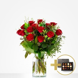Combi Bouquet: You make me happy; incl. Flavours chocolate f, Combi Bouquet: You make me happy; incl. Flavours chocolate f