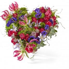 Funeral: Eternal nature Funeral Bouquet Heart, Funeral: Eternal nature Funeral Bouquet Heart