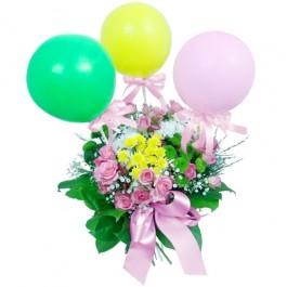 Kwiaty z balonikami dla dziecka, Kwiaty z balonikami dla dziecka